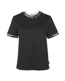 Ted Baker Womens Black Renyaz Branded Ribbed T-Shirt