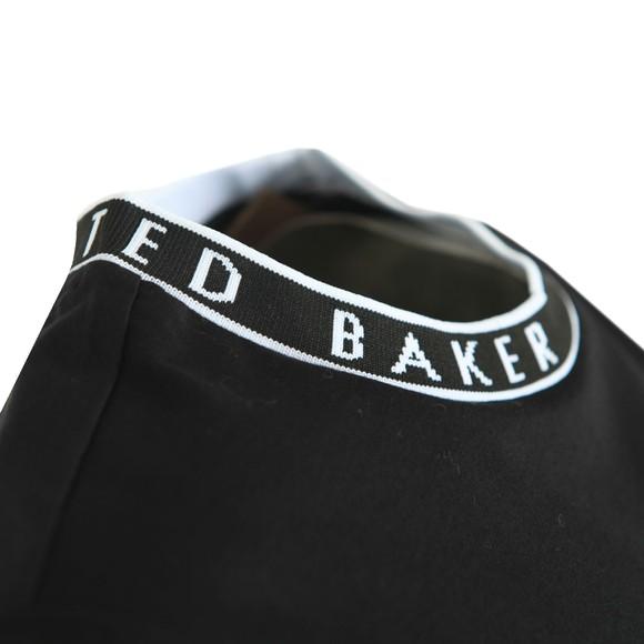 Ted Baker Womens Black Renyaz Branded Ribbed T-Shirt main image