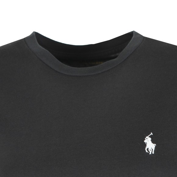 Polo Ralph Lauren Womens Black Basic Crew T Shirt