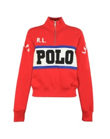 Polo Ralph Lauren Womens Multicoloured Half Zip Sweat