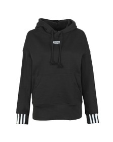 adidas Originals Womens Black Chest Logo Hoody