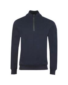 Paul & Shark Mens Blue Diamond Peach Half Zip Sweatshirt