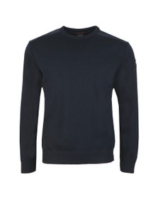 Paul & Shark Mens Blue Shoulder Detail Crew Jumper