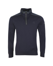 Paul & Shark Mens Blue Kompact Knitted Half Zip