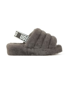 Ugg Womens Grey Fluff Yeah Slide