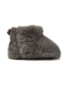 Ugg Girls Grey Jesse Bow II Fluff Bootie