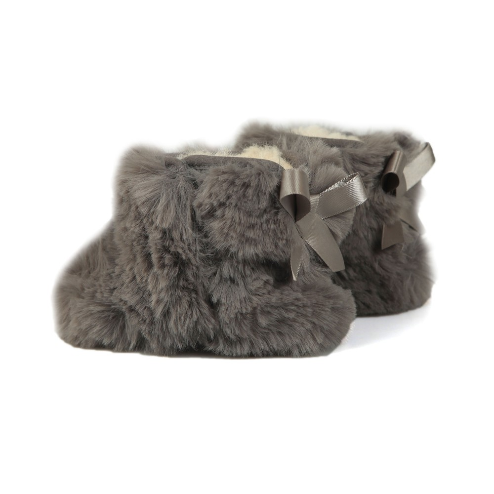 949ed882830 Girls Grey Jesse Bow II Fluff Bootie