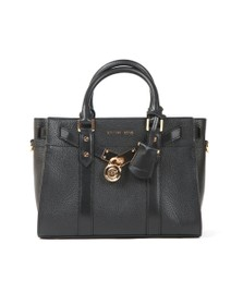Michael Kors Womens Black Nouveau Hamilton Small Satchel