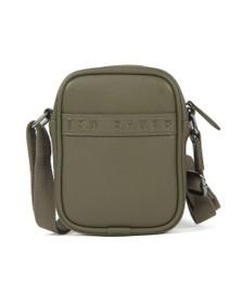 Ted Baker Mens Green Debossed Mini Flight Crossbody Bag
