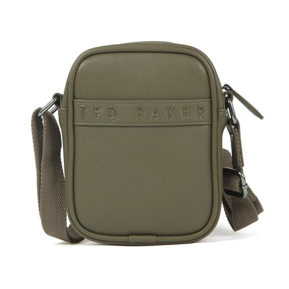Ted Baker Mens Green Debossed Mini Flight Crossbody Bag main image