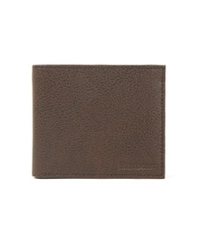 Barbour Lifestyle Mens Brown Peterlee Billfold Wallet