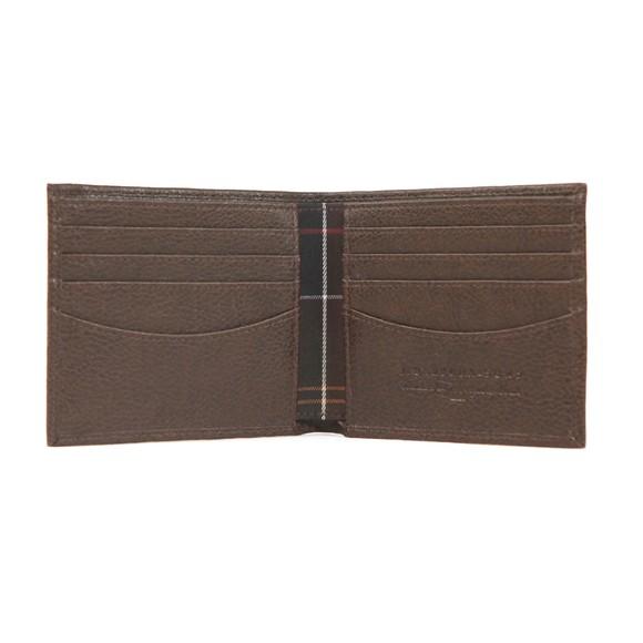 Barbour Lifestyle Mens Brown Peterlee Billfold Wallet main image