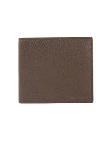 Barbour Lifestyle Mens Brown Peterlee Billfold Coin Wallet