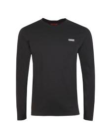 HUGO Mens Black Derol194 Long Sleeve T Shirt
