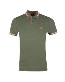 BOSS Mens Green Athleisure Paul Curved Polo
