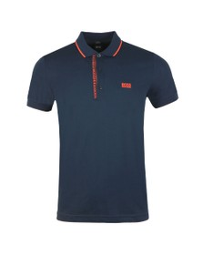 BOSS Mens Blue Athleisure Paule 4 Polo Shirt