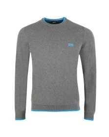 BOSS Mens Grey Athleisure Rimex Jumper