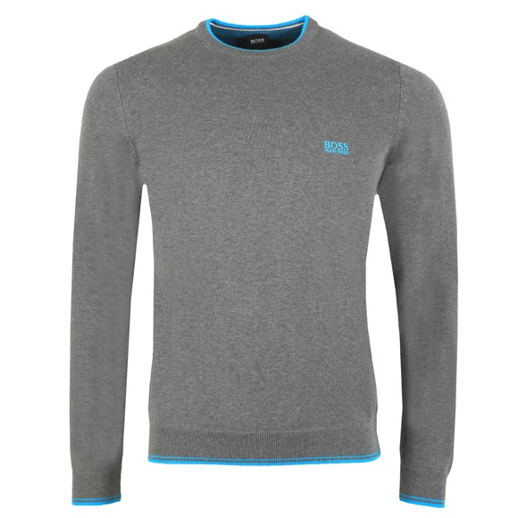 BOSS Mens Grey Athleisure Rimex Jumper main image