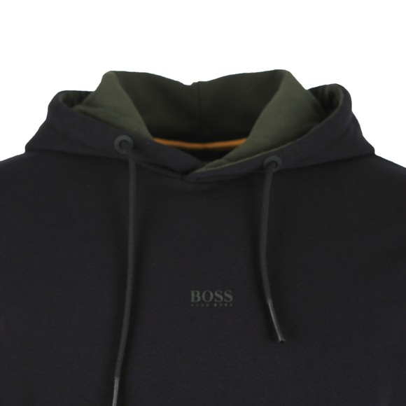 BOSS Mens Black Middle Boss Logo Hoody main image