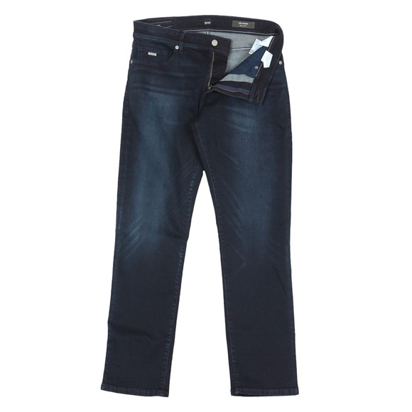 BOSS Mens Blue Casual Super Stretch Denim Jean