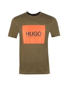 HUGO Mens Green Dolive 194 T Shirt