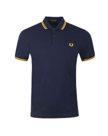 Fred Perry Mens Blue Twin Tipped Polo Shirt