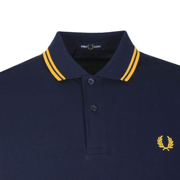 Fred Perry Mens Blue Twin Tipped Polo Shirt main image