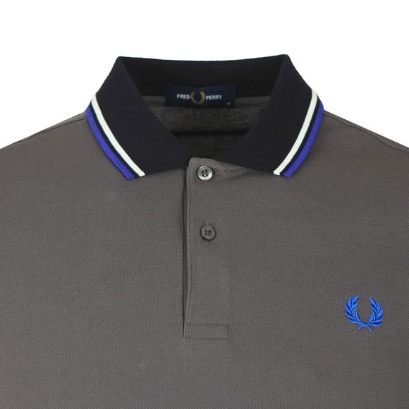Fred Perry Mens Grey Contrast Rib Polo Shirt main image