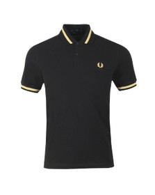 Fred Perry (Reissues) Mens Black Single Tipped Polo