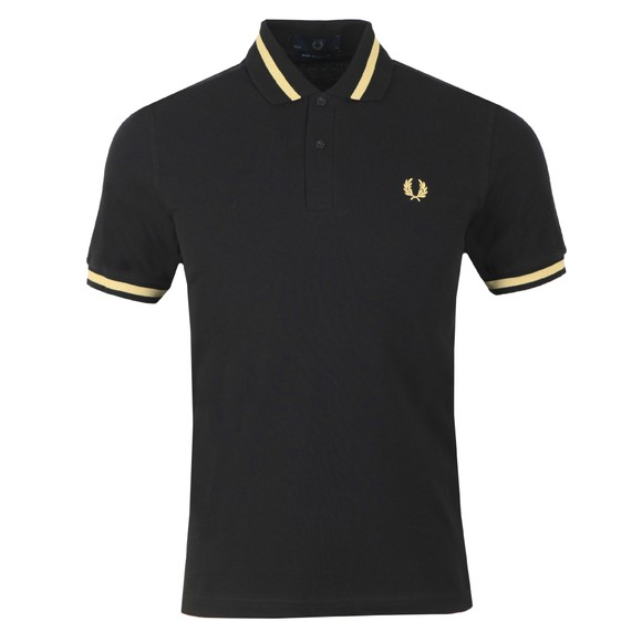 Fred Perry (Reissues) Mens Black Single Tipped Polo main image