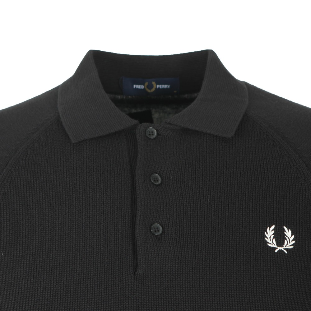 Contrast Texture Knitted Polo main image