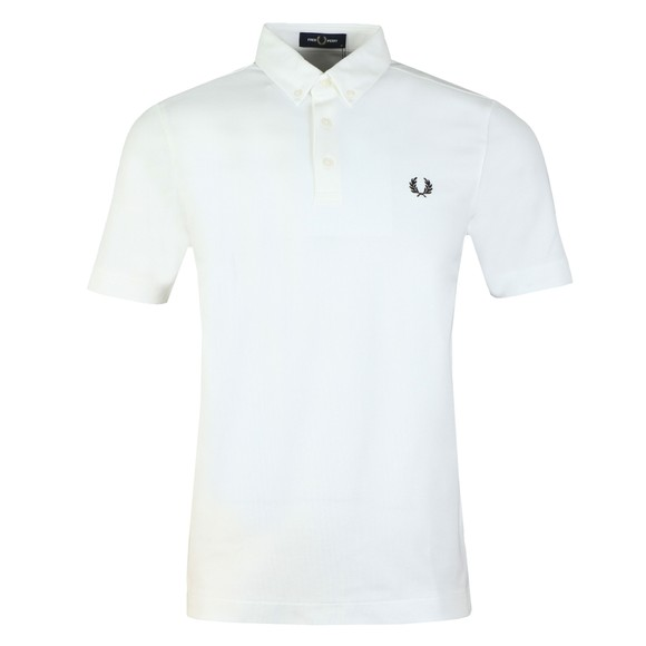 Fred Perry Mens White Button Down Polo Shirt main image