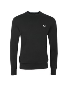 Fred Perry Mens Black Classic Merino Crew Neck Jumper