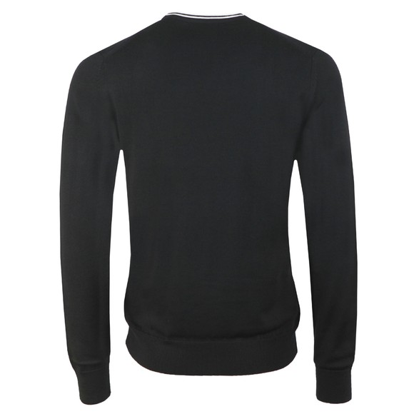Fred Perry Mens Black Classic Merino Crew Neck Jumper main image
