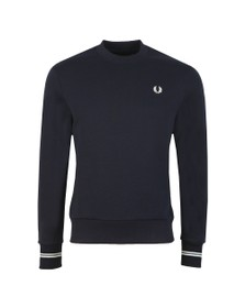 Fred Perry Mens Blue Crew Neck Sweat