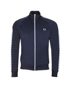 Fred Perry Mens Blue Laurel Wreath Tape Track Top