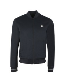 Fred Perry Mens Black Bomber Neck Track Jacket