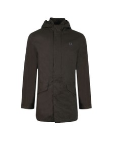 Fred Perry Mens Black Parka