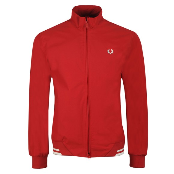 Fred Perry Mens Red The Brentham Jacket main image
