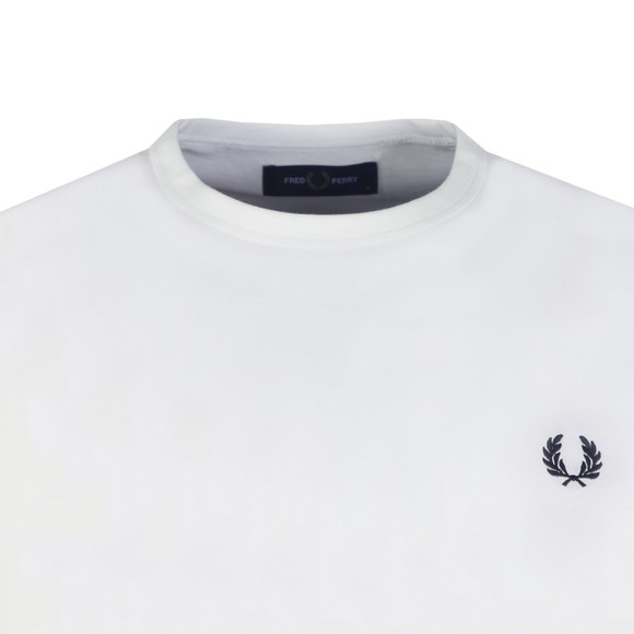 Fred Perry Mens White Bold Tipped T-Shirt main image