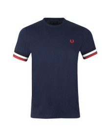 Fred Perry Mens Blue Bold Tipped T-Shirt