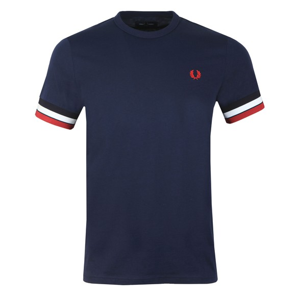 Fred Perry Mens Black Bold Tipped T-Shirt main image
