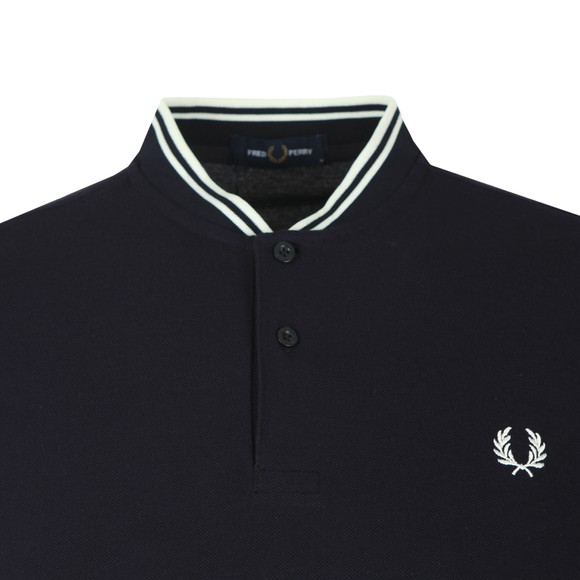 Fred Perry Mens Blue Bomber Collar Polo main image