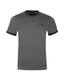 Fred Perry Mens Grey Ringer T-Shirt