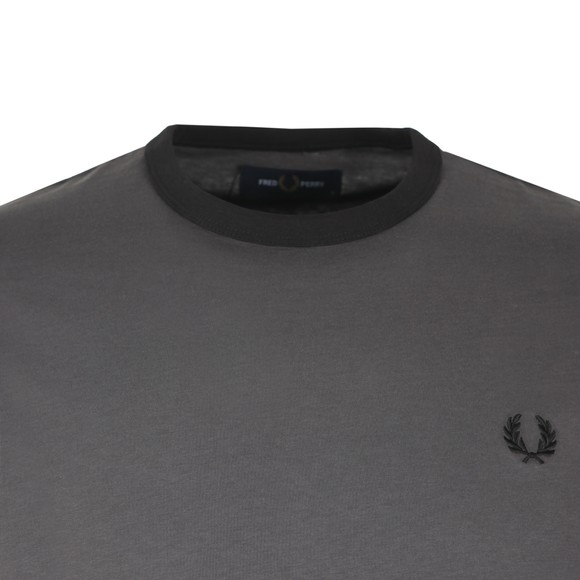 Fred Perry Mens Grey Ringer T-Shirt main image