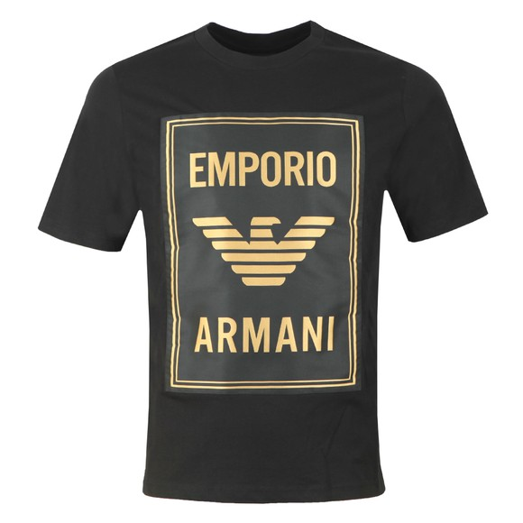 Emporio Armani Mens Black Gold Box Logo T Shirt main image