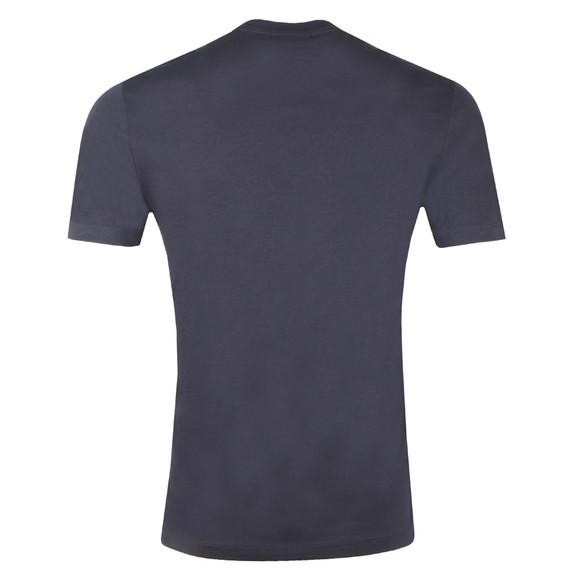 Emporio Armani Mens Blue Mirrored Logo T Shirt main image