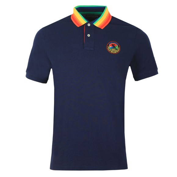 Polo Ralph Lauren Mens Blue Multicoloured Collar Polo Shirt