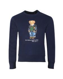 Polo Bear By Ralph Lauren Mens Blue New Bear Logo Sweatshirt
