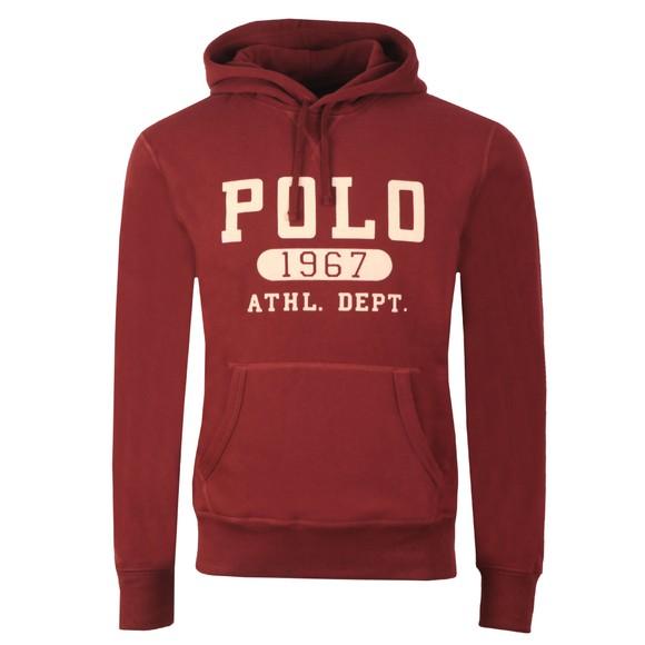 Polo Ralph Lauren Mens Red Athletic Logo Overhead Hoody main image